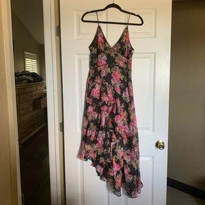 Keepsake the Label Asymetric Floral Midi Dress